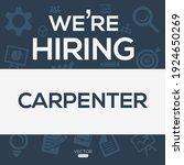 creative text design  carpenter ...   Shutterstock .eps vector #1924650269