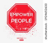 creative sign  empower people ...   Shutterstock .eps vector #1924652633