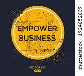creative sign  empower business ...   Shutterstock .eps vector #1924652639