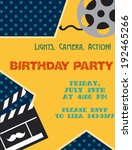 movie night. birthday party card | Shutterstock .eps vector #192465266