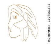abstract young lady' face....   Shutterstock .eps vector #1924661873