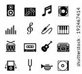 set of black music icons vector ... | Shutterstock .eps vector #192467414