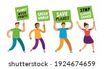 people holding banners and...   Shutterstock .eps vector #1924674659