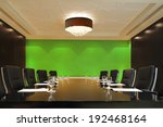 the boardroom table is set for... | Shutterstock . vector #192468164