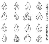 fire icons set in line style ... | Shutterstock .eps vector #1924682333