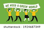ecology protest  ecological...   Shutterstock .eps vector #1924687349