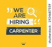 creative text design  carpenter ...   Shutterstock .eps vector #1924687559