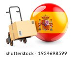 Parcel On The Hand Truck With...