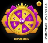 vector purple spin wheel for...