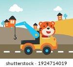 vector illustration of tow...   Shutterstock .eps vector #1924714019