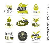 olive oil icon set | Shutterstock .eps vector #192472133