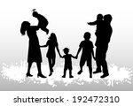 family silhouettes | Shutterstock .eps vector #192472310