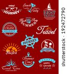 travel banners and labels for... | Shutterstock .eps vector #192472790