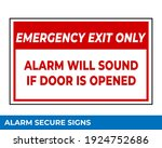 notice emergency exit only...   Shutterstock .eps vector #1924752686