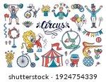 vector cartoon set on the theme ... | Shutterstock .eps vector #1924754339