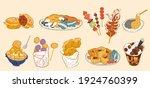 taiwan street food doodle set ... | Shutterstock .eps vector #1924760399