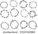 12 arrow design frames isolated ...   Shutterstock .eps vector #1924762880