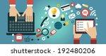mobile apps concept. flat... | Shutterstock .eps vector #192480206