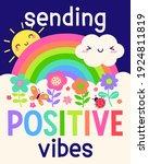 """""""sending positive vibes""""...   Shutterstock .eps vector #1924811819"""
