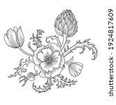 vector drawing vintage...   Shutterstock .eps vector #1924817609