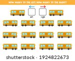 left or right with cartoon bus. ... | Shutterstock .eps vector #1924822673