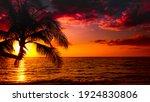 Beautiful Sunset Tropical Beach ...