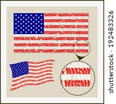 u.s. flag is made of words... | Shutterstock .eps vector #192483326