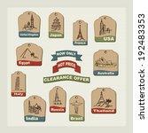 set retro  vacation   travel... | Shutterstock .eps vector #192483353