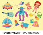colorful kid stuffs toys and...   Shutterstock .eps vector #1924836029