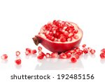 pomegranate with seeds over... | Shutterstock . vector #192485156