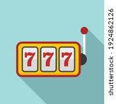 Slot Machine Icon. Flat...