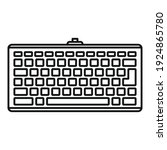 smart keyboard icon. outline...