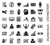 broker icons set. simple set of ... | Shutterstock .eps vector #1924867889