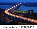 Bridge Over The Amur River. The ...