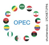 opec members countries national ...   Shutterstock .eps vector #1924871996