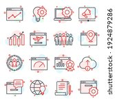 set of seo icon. search engine...   Shutterstock .eps vector #1924879286