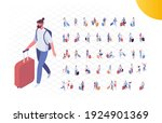 isometric people in airport... | Shutterstock .eps vector #1924901369
