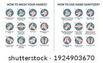how to wash your hands and how... | Shutterstock .eps vector #1924903670