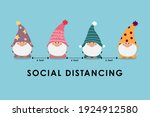 covid 19 and social distancing...   Shutterstock .eps vector #1924912580