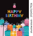 bday presents pile. greeting... | Shutterstock .eps vector #1924917926