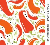 red hot chili seamless pattern... | Shutterstock .eps vector #1924917929