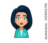 doctor and medical nurse avatar ...   Shutterstock .eps vector #1924921790