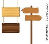 wooden sign boards blank empty... | Shutterstock .eps vector #1924926620