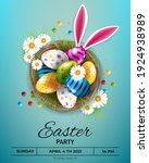 easter greeting card with... | Shutterstock .eps vector #1924938989
