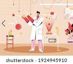 scientist studying of molecule. ...   Shutterstock .eps vector #1924945910