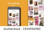 social media puzzle template...   Shutterstock .eps vector #1924956983