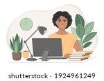 student woman preparing for...   Shutterstock .eps vector #1924961249