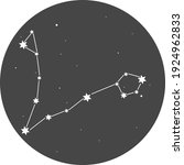 the constellation of pisces on... | Shutterstock .eps vector #1924962833