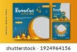 set of social media template... | Shutterstock .eps vector #1924964156