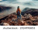 A Woman Who Hikers Enjoys A...